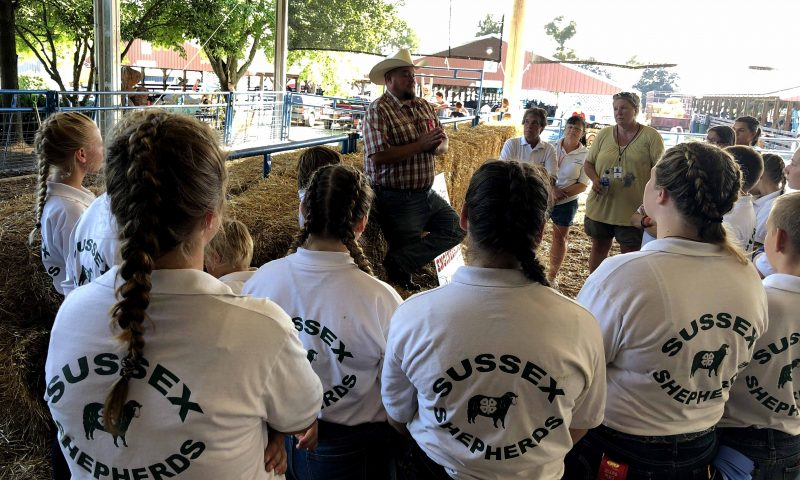 4-H goat club members at the fair