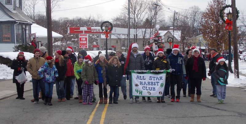 4-H club marching in parade
