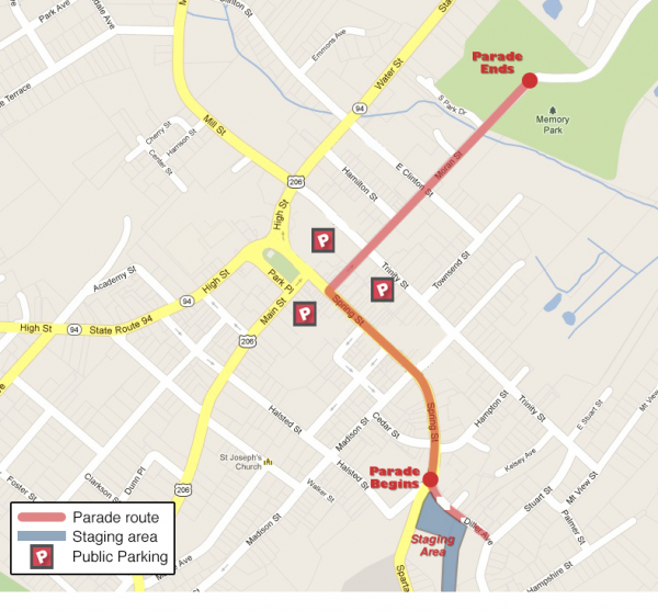 Map_Newton Parade Route