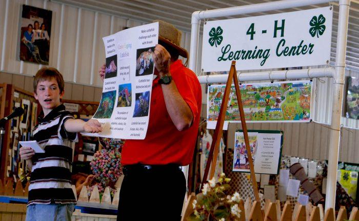 youth presenting at fair