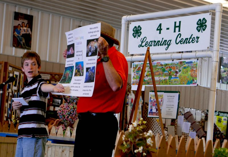 youth presenting at fair